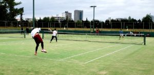 テニス大会の様子